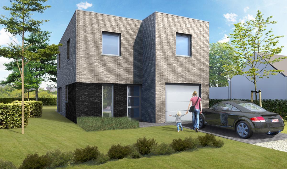 Immo gryson torhout koekelare woning moderne nieuwbouwwoning met 3 4 slpk wind en for Moderne huis foto